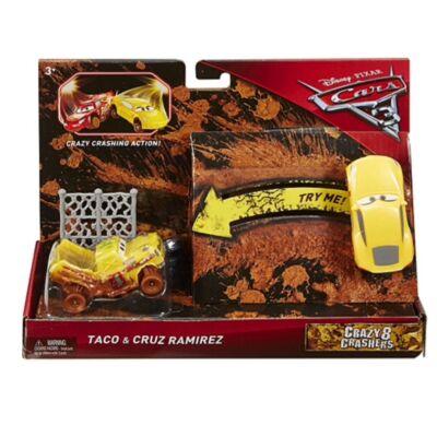 Verdák 3 Crazy 8 Taco és Cruz Ramirez kisautó szett 1/55