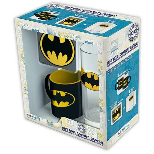 DC Comics Batman ajándékcsomag ((pohár,alátét és bögre)