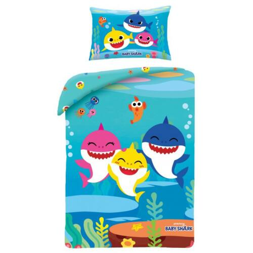Baby Shark gyerek ágyneműhuzat garnitúra
