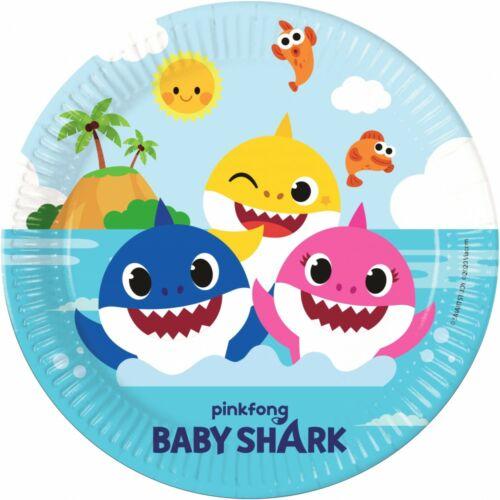 Baby Shark papír tányér 23 cm, 8 db-os szett