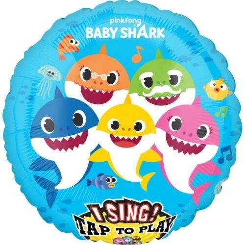 Baby Shark zenélő fólia lufi 71 cm