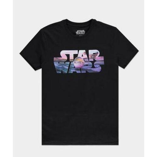 Star Wars The Mandalorian Baby Yoda férfi póló - Logó