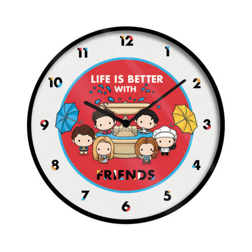 Jóbarátok falióra - Life Is Better With Friends - Chibi