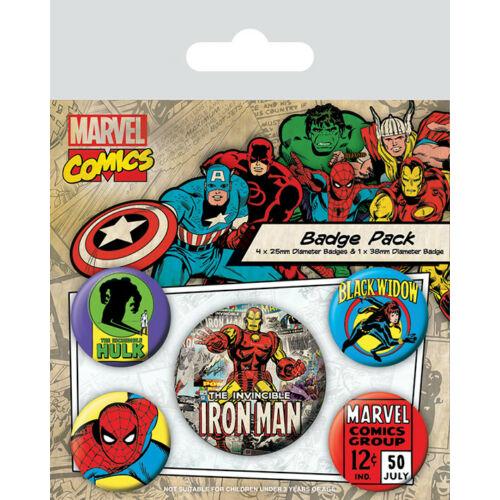 Marvel retro kitűző szett - Iron Man