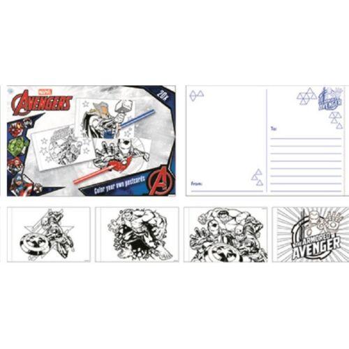Színezhető Bosszúállók képeslap csomag