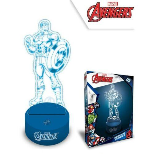 Bosszúállók Amerika Kapitány 3D LED lámpa