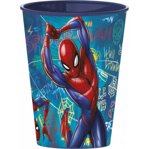 Pókember műanyag pohár