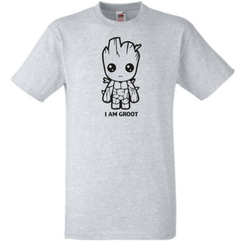 Szürke I Am Groot - Férfi rövid ujjú póló