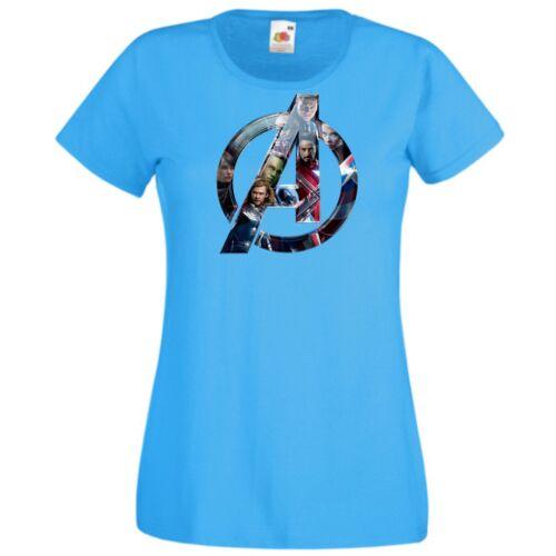 Azúrkék Bosszúállók - Avengers - Női rövid ujjú póló