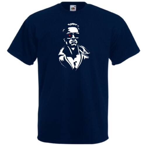 Sötétkék Terminator férfi rövid ujjú póló