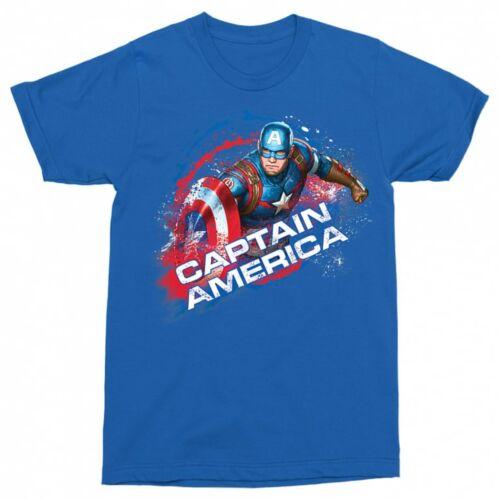 Királykék Amerika Kapitány férfi rövid ujjú póló