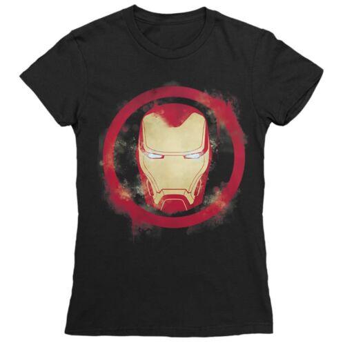 Fekete Marvel Vasember női rövid ujjú póló - Logó