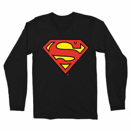 Fekete Superman - férfi hosszú ujjú póló - Classic Logó