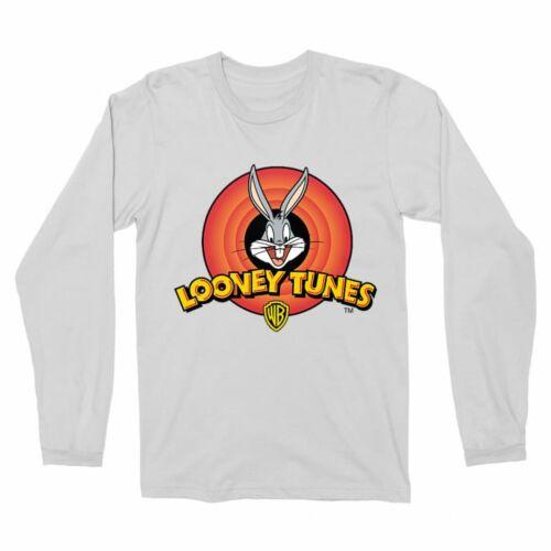 Fehér Bolondos dallamok férfi hosszú ujjú póló - Bugs Bunny Logo