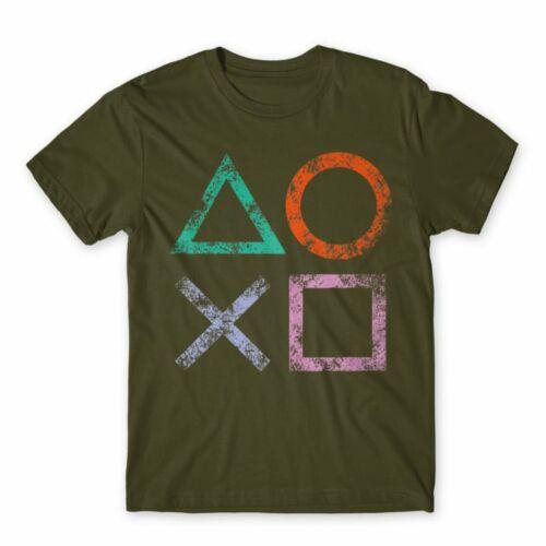 Khaki PlayStation - férfi rövid ujjú póló - Symbols