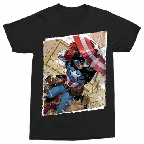 Fekete Marvel Amerika Kapitány férfi rövid ujjú póló - Ugrás