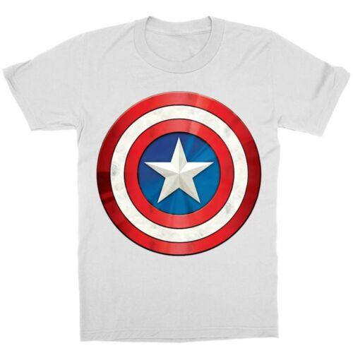 Fehér Amerika Kapitány gyerek rövid ujjú póló - A pajzs