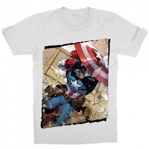 Fehér Marvel Amerika Kapitány gyerek rövid ujjú póló - Ugrás