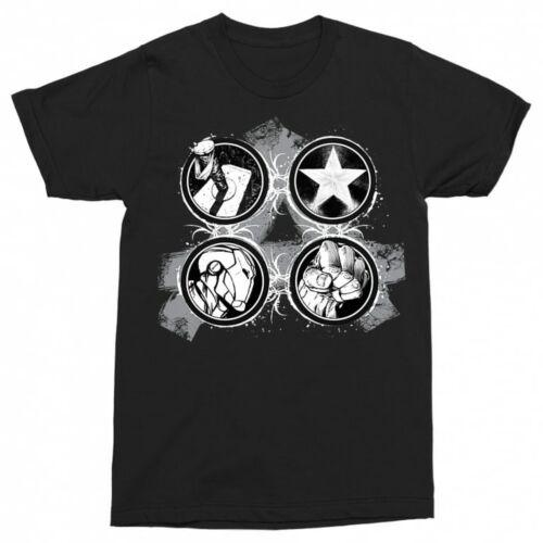 Fekete Bosszúállók - Avengers - Férfi rövid ujjú póló - Splatter Logo