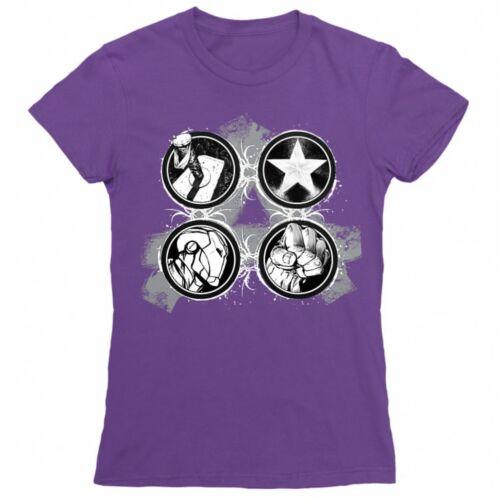 Sötétlila Bosszúállók - Avengers női rövid ujjú póló - Splatter Logo