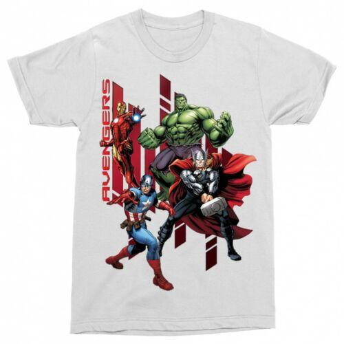 Fehér Bosszúállók - Avengers férfi rövid ujjú póló - Szuperhősök