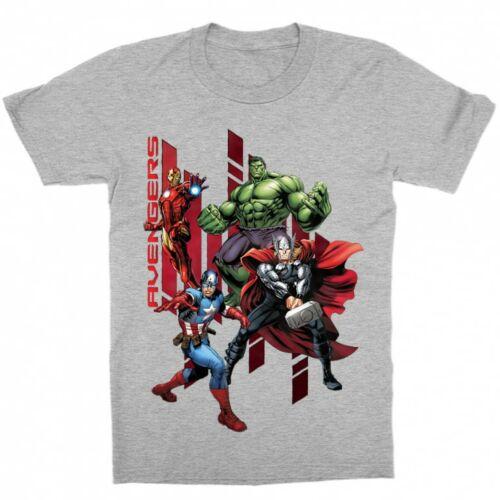 Sportszürke Bosszúállók - Avengers gyerek rövid ujjú póló - Szuperhősök