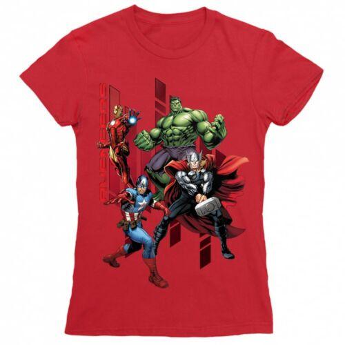 Piros Bosszúállók - Avengers női rövid ujjú póló - Szuperhősök