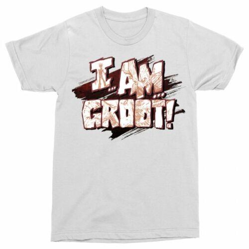 Fehér A galaxis őrzői férfi rövid ujjú póló - I am Groot