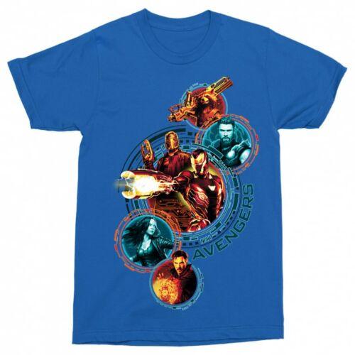 Királykék Bosszúállók férfi rövid ujjú póló - Infinity War Team