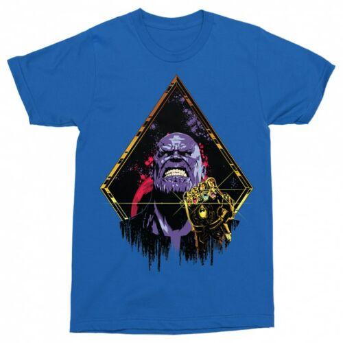 Királykék Marvel Thanos férfi rövid ujjú póló - Thanos Univerzum