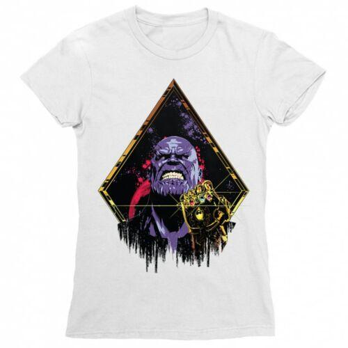 Fehér Marvel Thanos női rövid ujjú póló - Thanos Univerzum