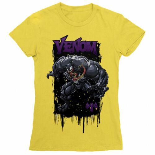Citromsárga Venom női rövid ujjú póló