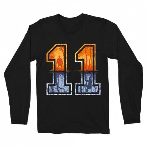 Fekete Stranger Things férfi hosszú ujjú póló - Eleven Numbers