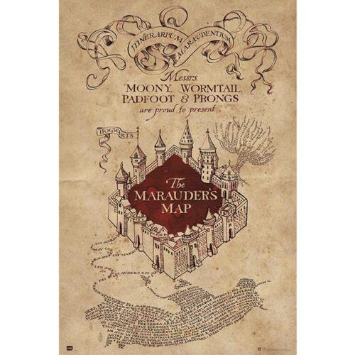 Harry Potter tekergők térképe plakát