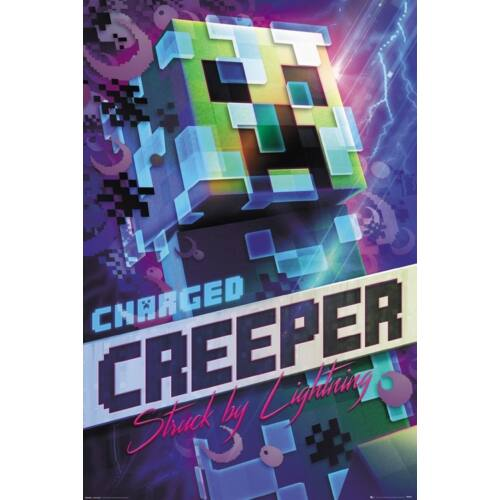 Minecraft plakát - Charged Creeper