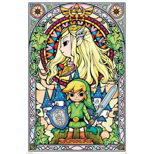 Legend Of Zelda plakát - Stained Glass