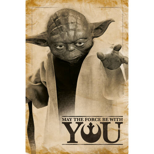 Star Wars: Yoda plakát - May The Force Be With You