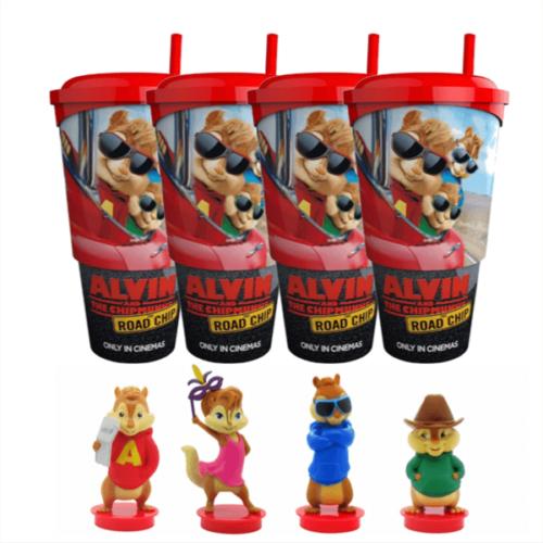 Alvin és a mókusok - A mókás menet pohár és topper szett