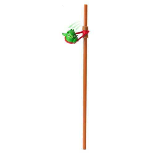 Angry Birds szívószál pörgethető Timothy figurával