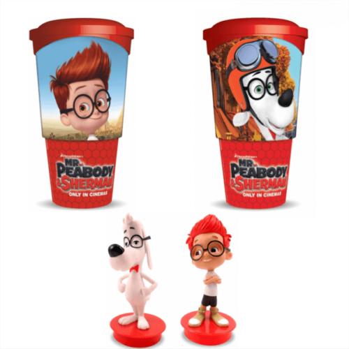 Mr. Peabody és Sherman kalandjai pohár és topper szett