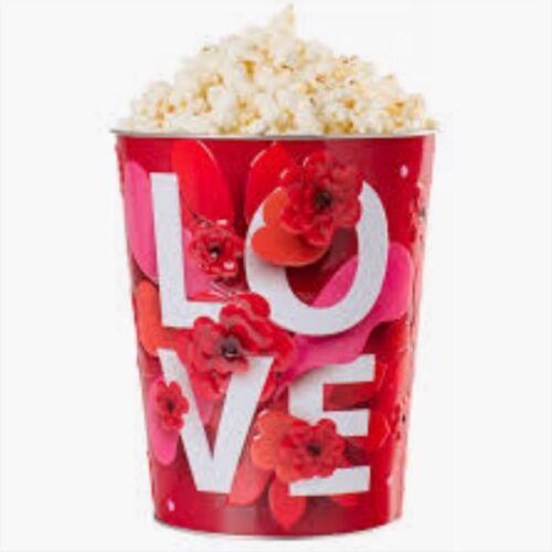 Valentin-napi popcorn vödör