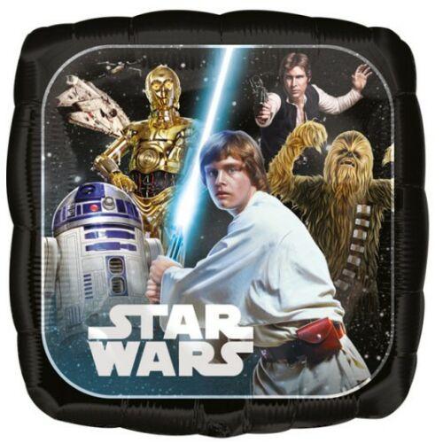 Star Wars fólia lufi - Klasszikus Saga, kétoldalas mintával (43 cm)