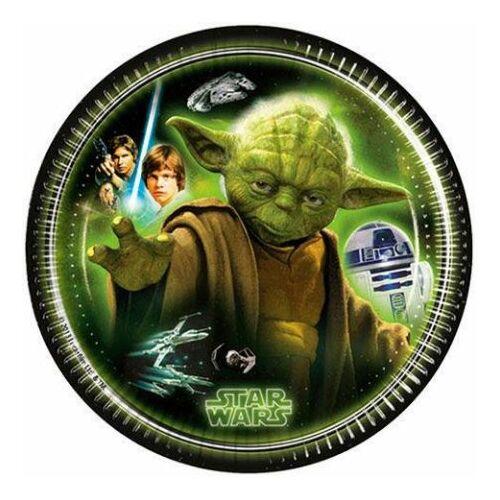 Star Wars papírtányér 20 cm 8 db-os szett - Klasszikus karakterek