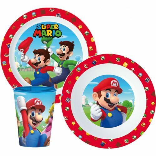 Super Mario műanyag étkészlet