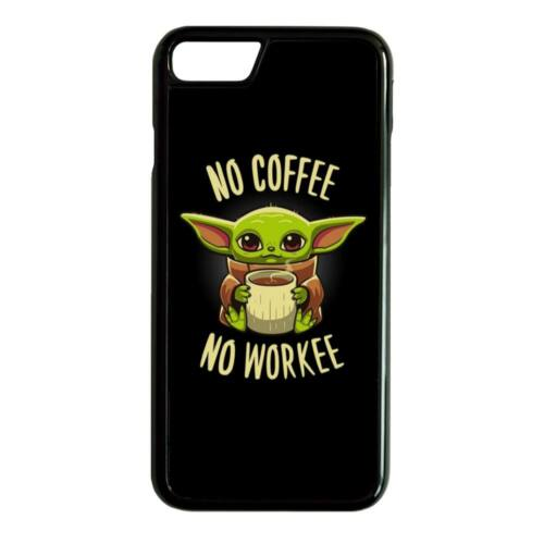 Fekete No coffee No workee - iPhone telefontok