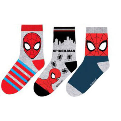 Pókember gyerek zokni szett (23-26 méret)