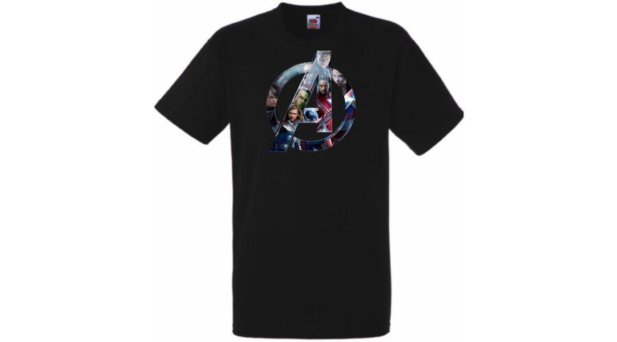 Fekete Bosszúállók - Avengers - Férfi rövid ujjú póló 4266e12fbd