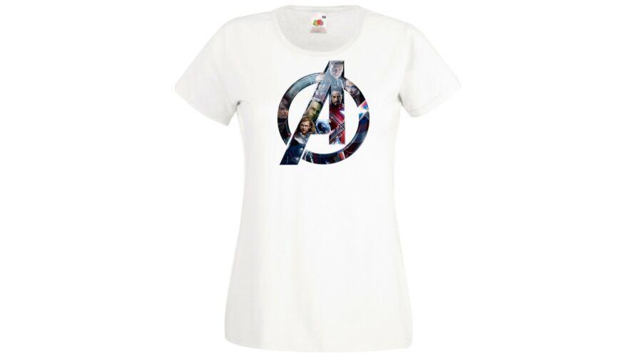 Fehér Bosszúállók - Avengers - Női rövid ujjú póló 9db590a36d