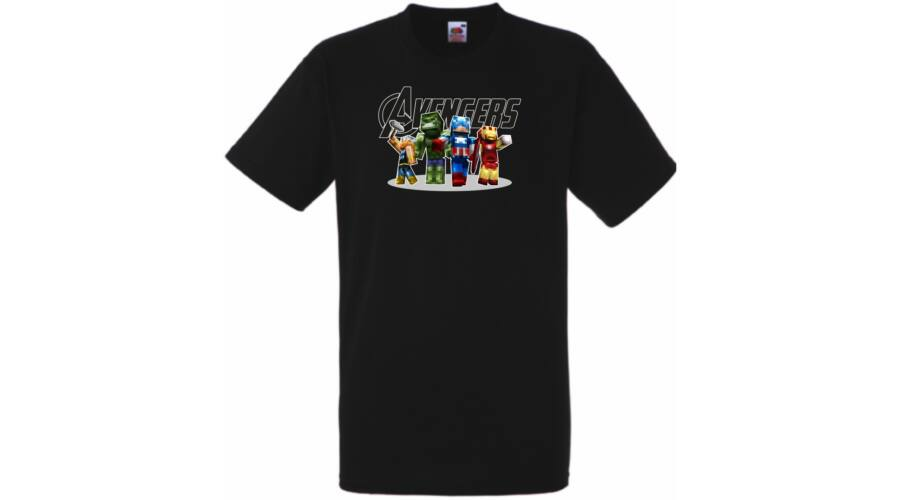 be02e07bdb Gyerek pólók, Bosszúállók rövid ujjú gyerek póló - Minecraft - Több ...