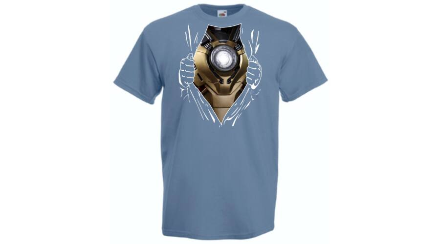Iron Man  Szakított ing - Férfi rövid ujjú póló - Több színben ... 733dbce0fa